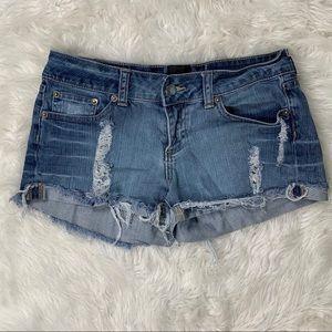2B BeBe Cutoff Distressed Denim Shorts